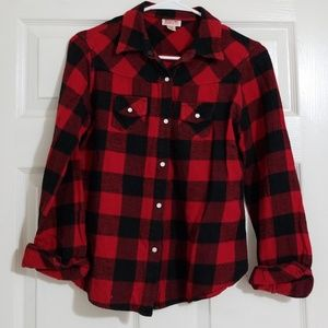 Mossimo Long Sleeve Flannel Button Down